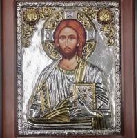 Ασημένια εικόνα Χριστός